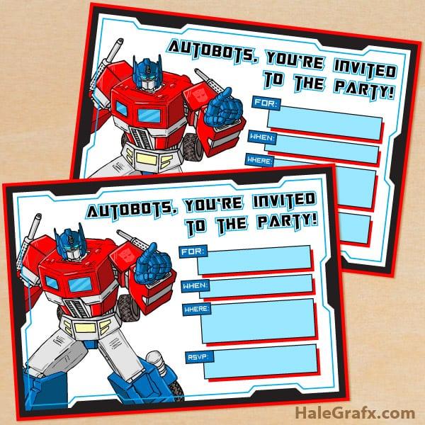 Transformer Invitation To Print