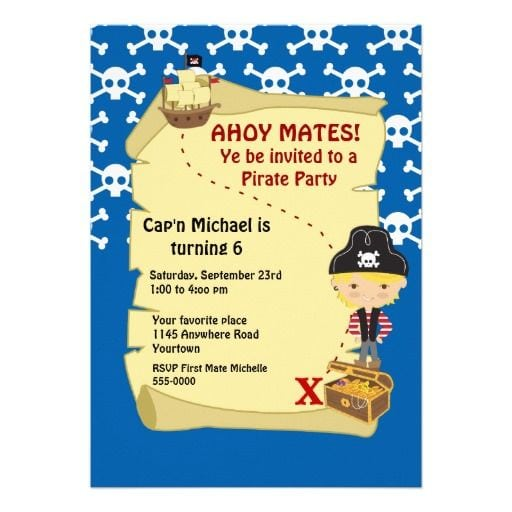 Treasure Map Party Invitation Template