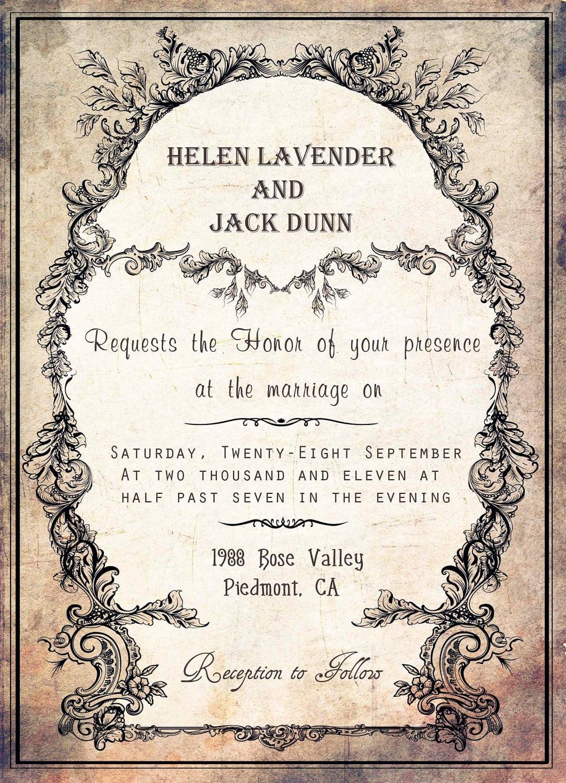 Vintage Party Invitation Templates Free