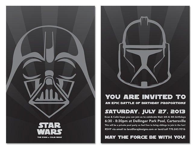 Wedding Invitation Template Free Star Wars