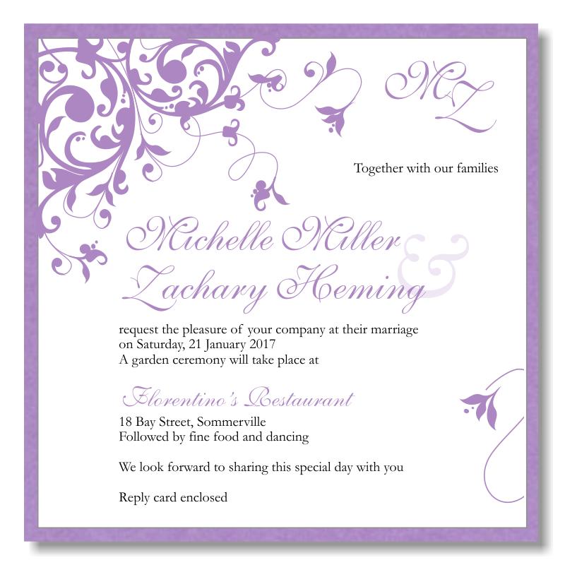 Wedding Picture Invitation Template