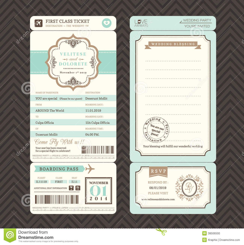 wedding ticket invitation template. Black Bedroom Furniture Sets. Home Design Ideas