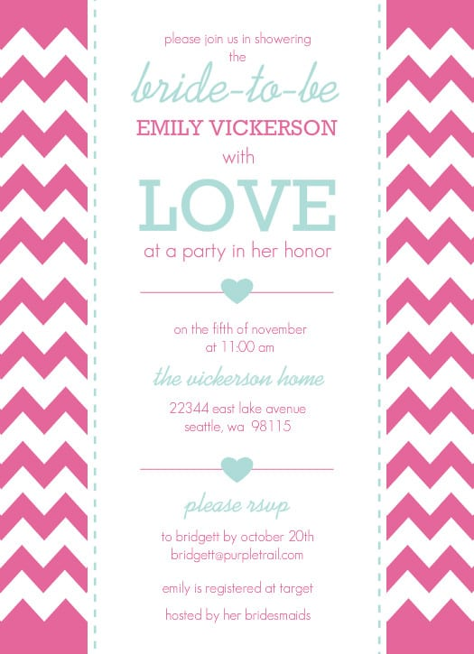 Word Invitation Template Bridal Shower Free Downloads