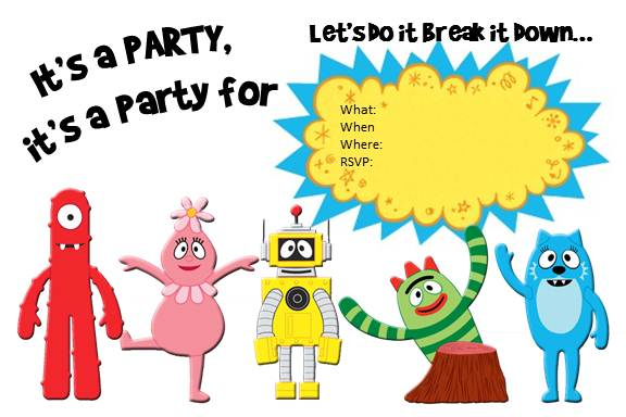Yo Gabba Gabba Free Printable Birthday Invitation Template