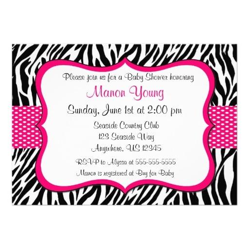 Zebra Print Invitation]