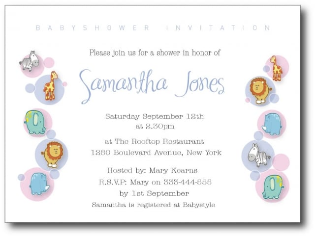 Baby Shower Invitation Samples Wording