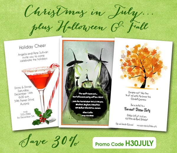 Christmas In July Invitation Wording