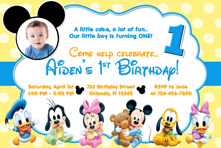 Free Printable Minnie Mouse Birthday Party Invitations – Free Baby Birthday Invitations