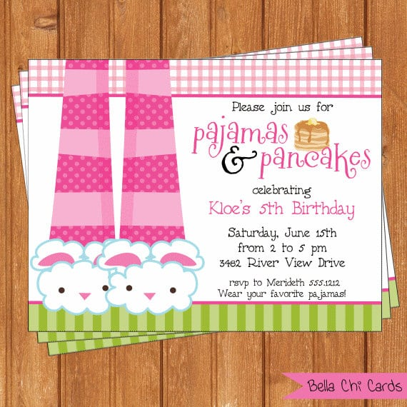 Printable pancakes and pajamas party invitation filmwisefo