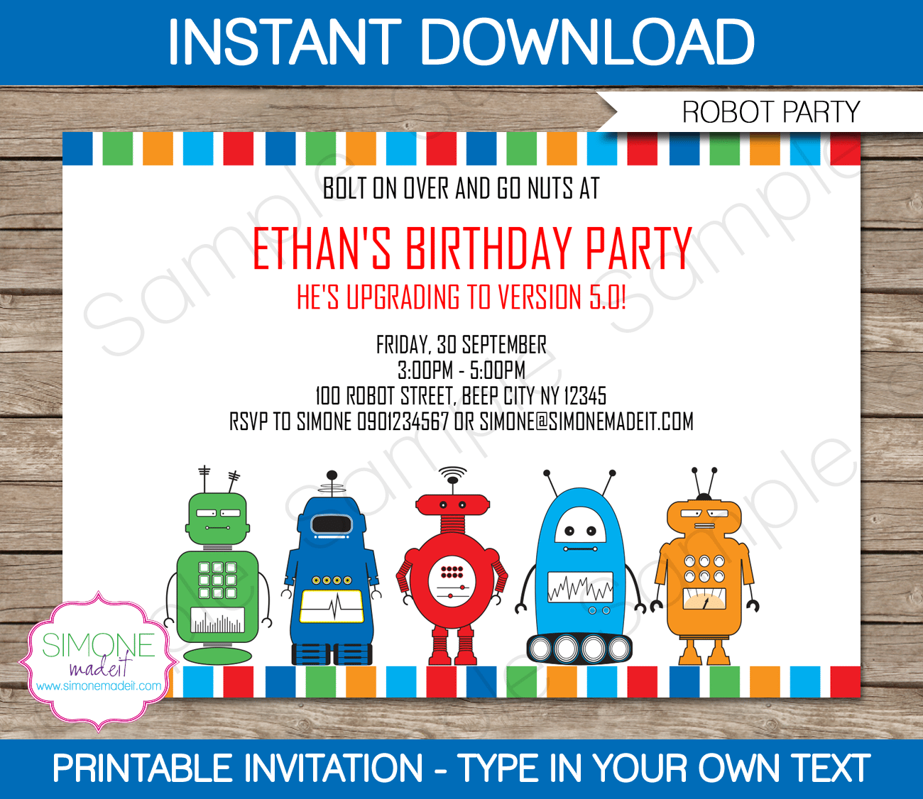 Free Printable Kids Party Invitation Template