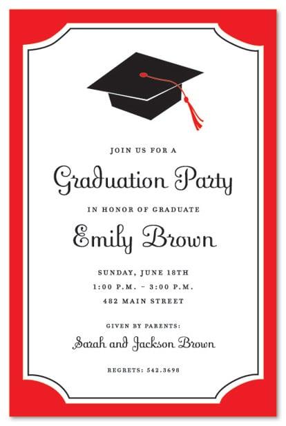 Sample Graduation Party Invitation
