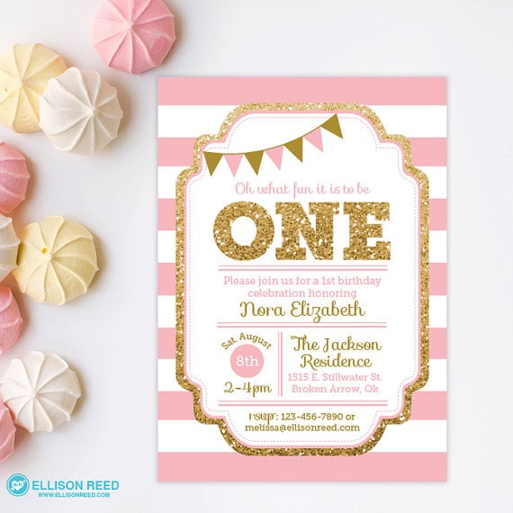 1st birthday invitation free