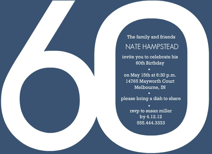 60th Birthday Invitation Free