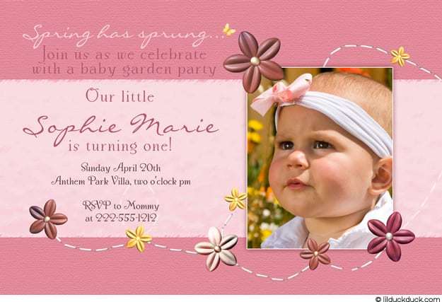Baby Birthday Invitation Sample