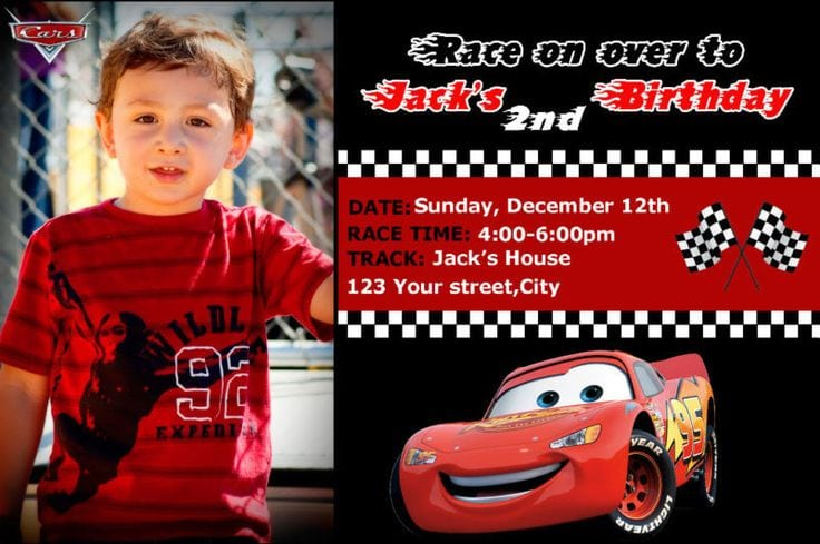 Cars Invitation Card Template Free: Birthday Cards Invitation Template Cars Disney