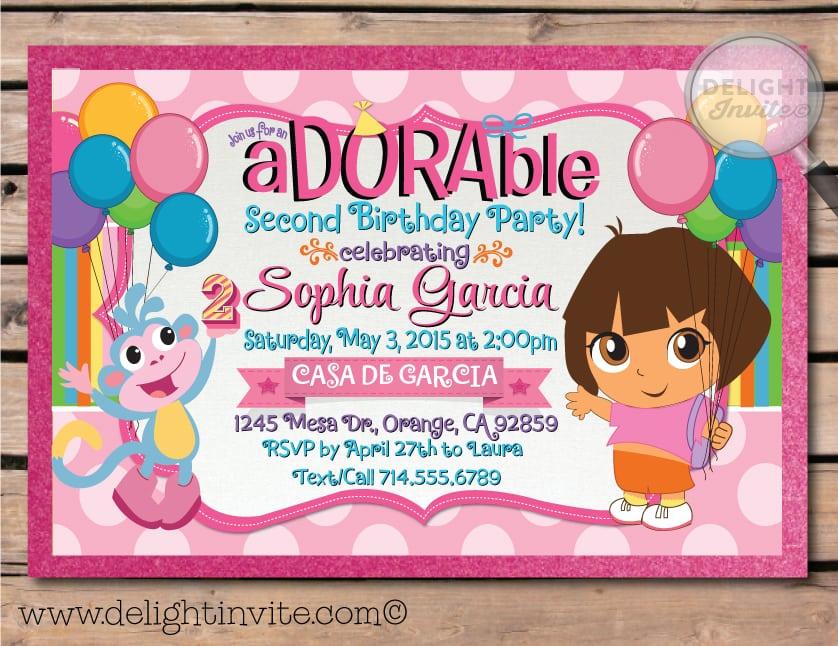 Create Dora The Explorer Invitations Free