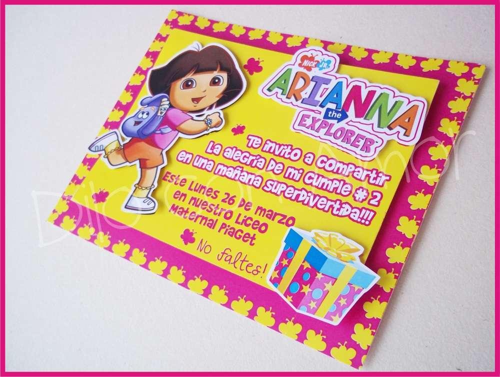 Dora The Explorer Invitation Free Printables
