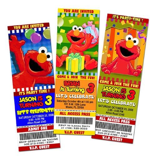 Elmo Invitation Uk