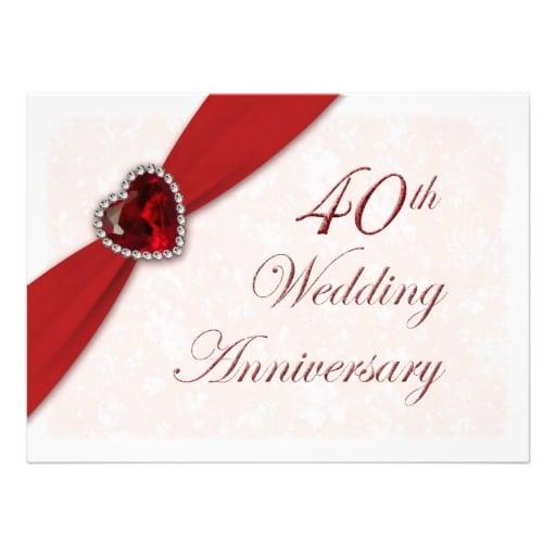 Free Th Wedding Anniversary Invitation Template - 40th wedding anniversary invitation templates