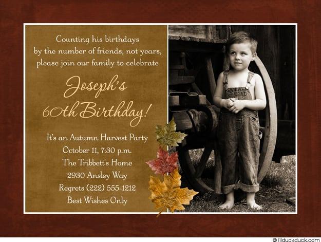 Free 60th Birthday Invitation Samples
