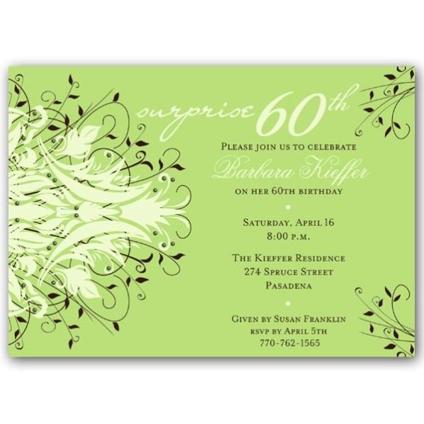 Free 60th Birthday Party Invitation Templates