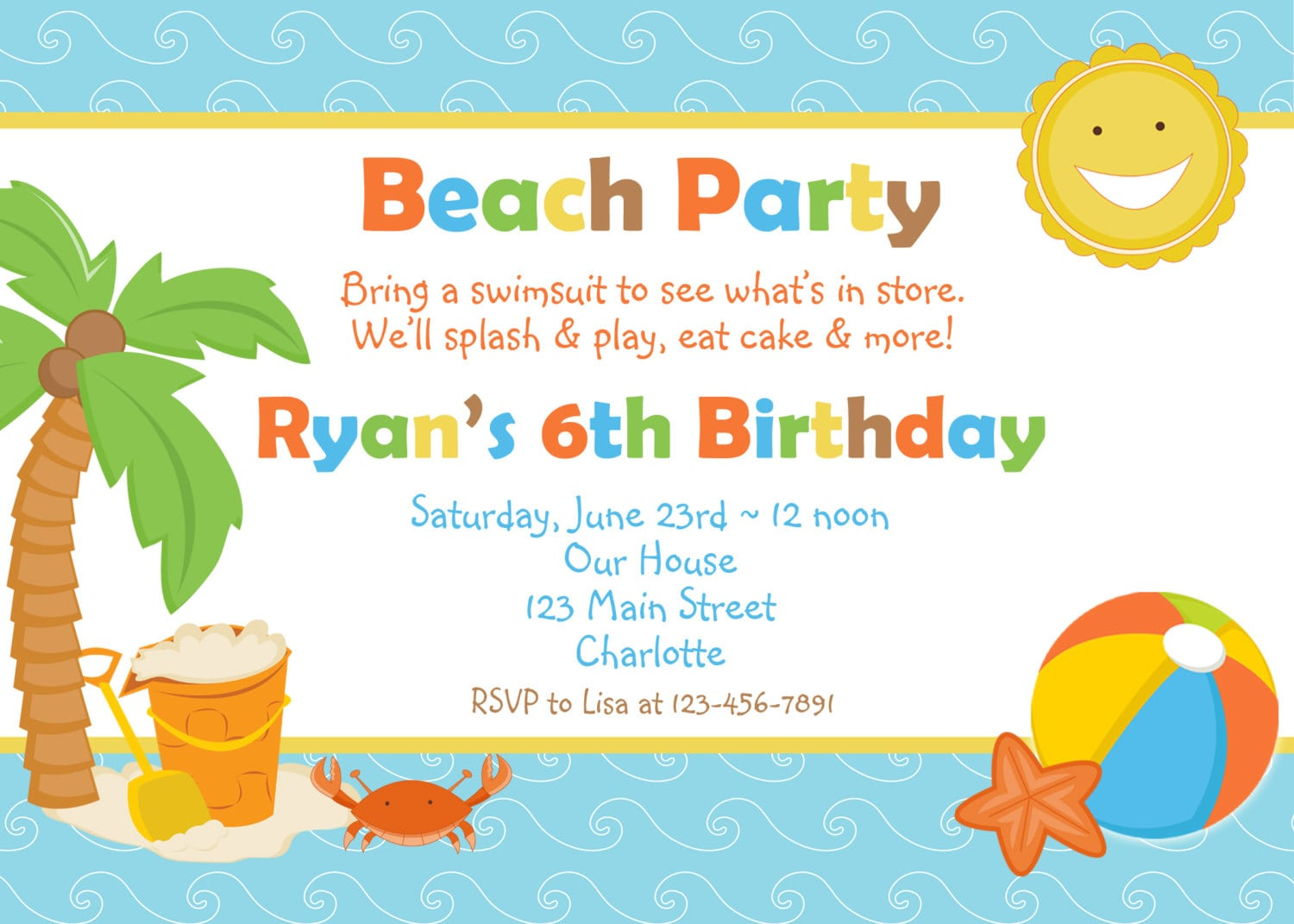 Free Beach Invitation Template