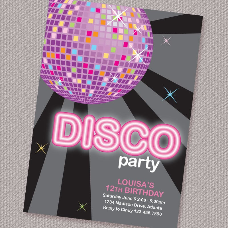 Free Download Disco Party Invitation Orderecigsjuice Info