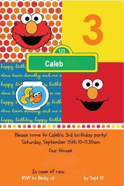 elmo design free printable birthday invitation cards, Birthday invitations