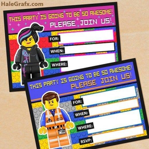 Free Lego Birthday Invitation Template