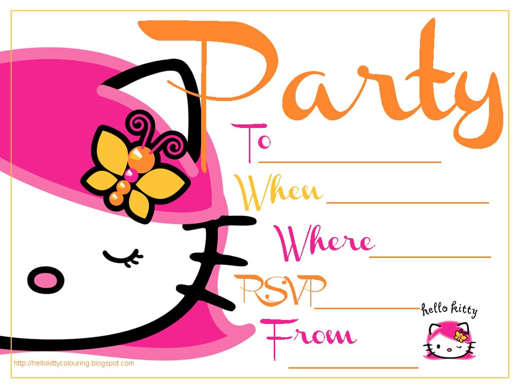 Free Printable Hello Kitty Graduation Invitation
