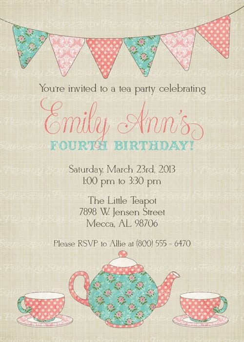 Free Little Girls Party Invitation
