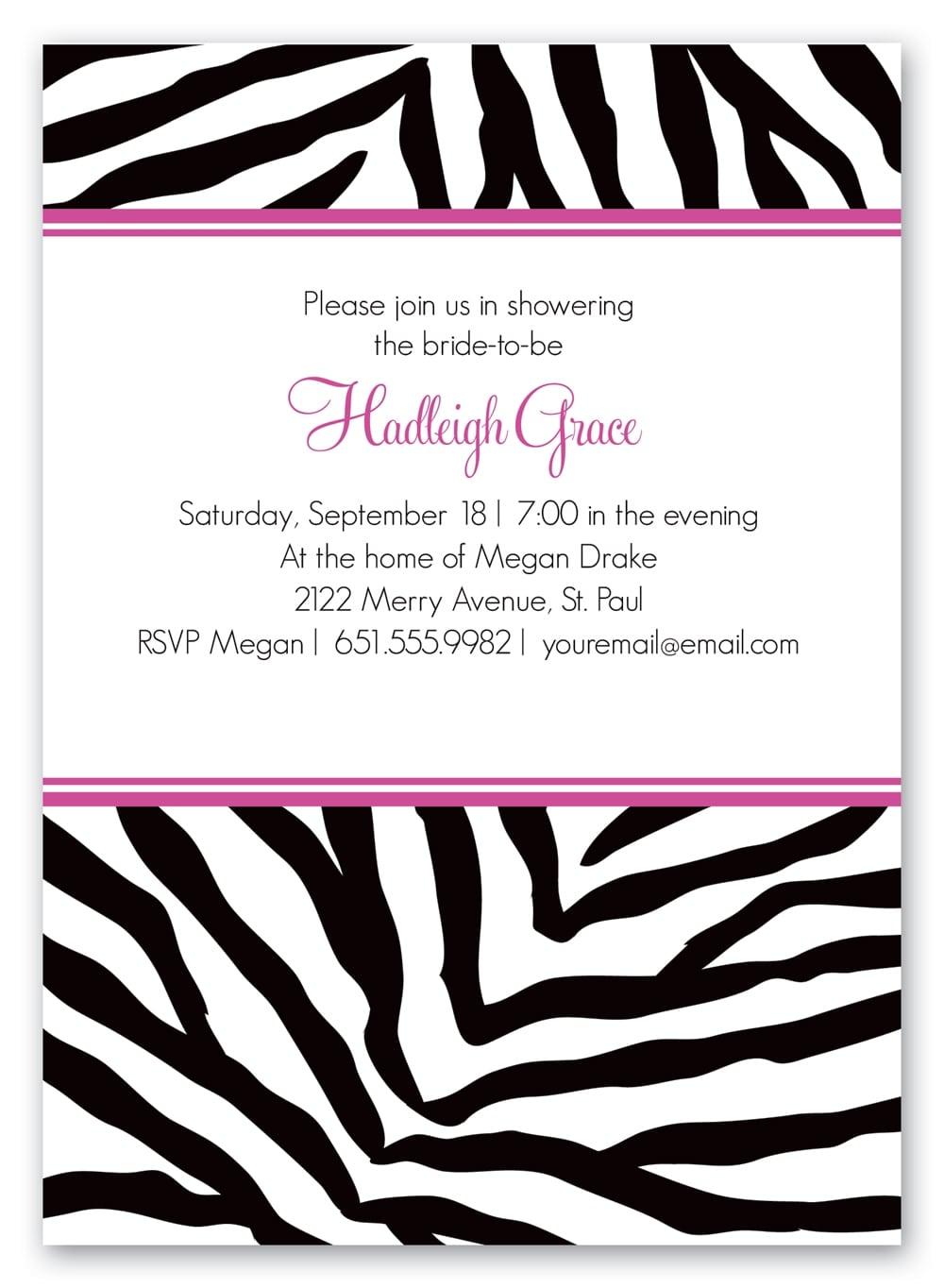 Zebra birthday invitation printable free filmwisefo