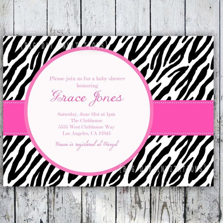 free printable zebra print birthday invitation, Birthday invitations