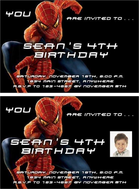 Free Spiderman Invitation Maker