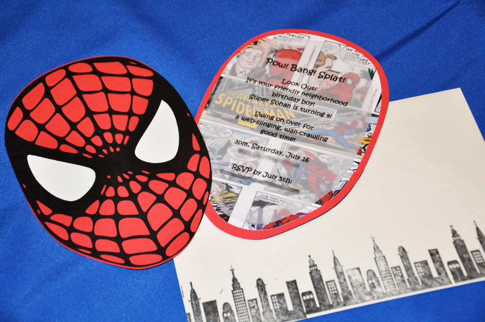 Free Spiderman Invitation Template