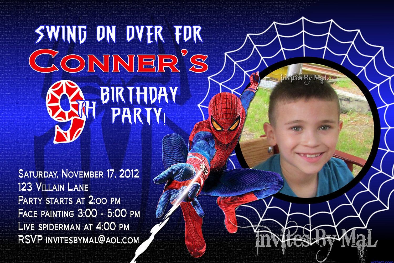 Free Spiderman Invitations With Photo