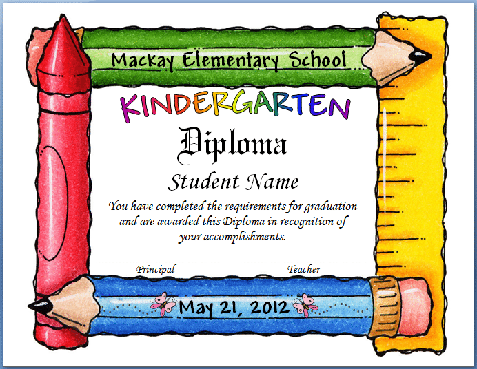 Free Template For Graduation Invitation Kindergarten