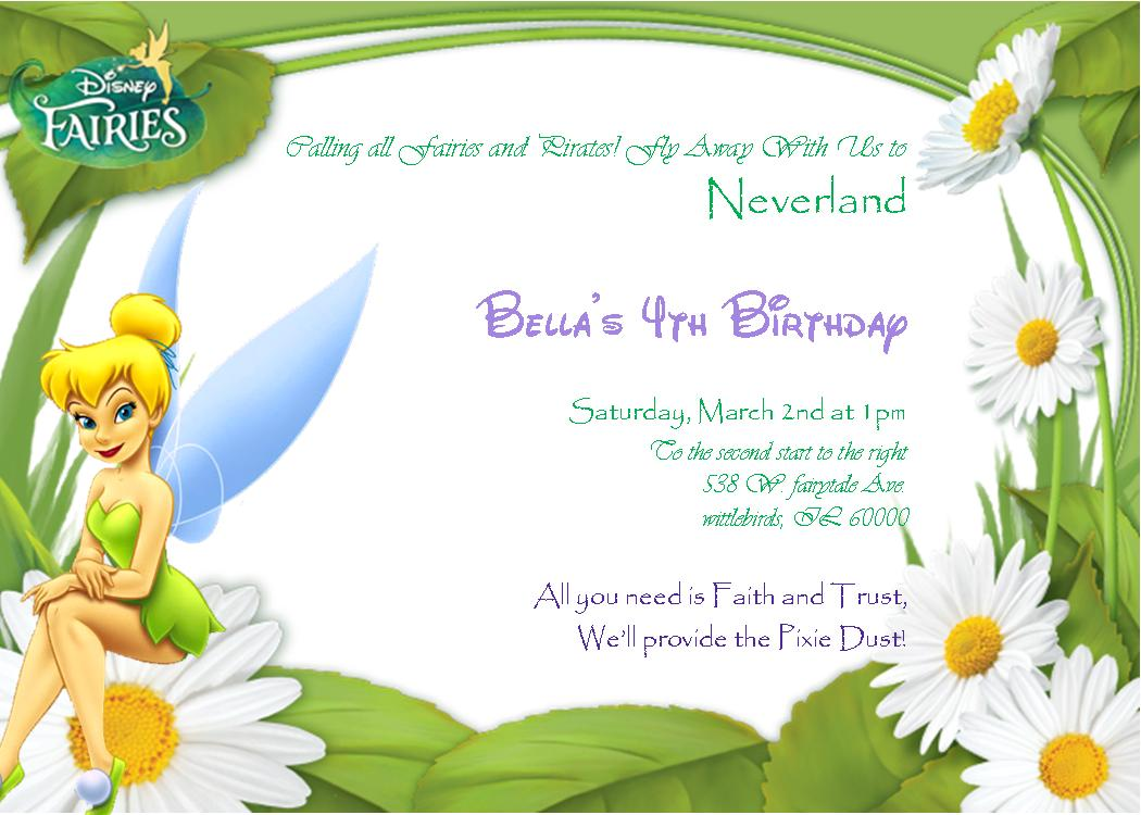 Free Tinkerbell Party Invitation Template