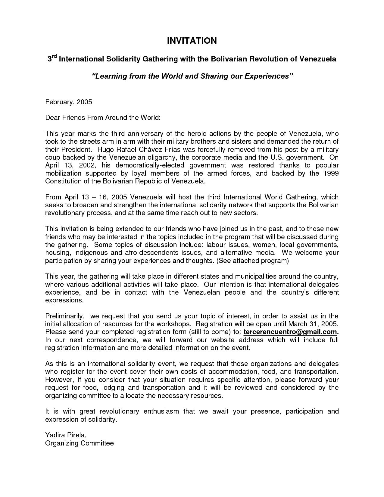 Invitation For Anniversary Of The Company