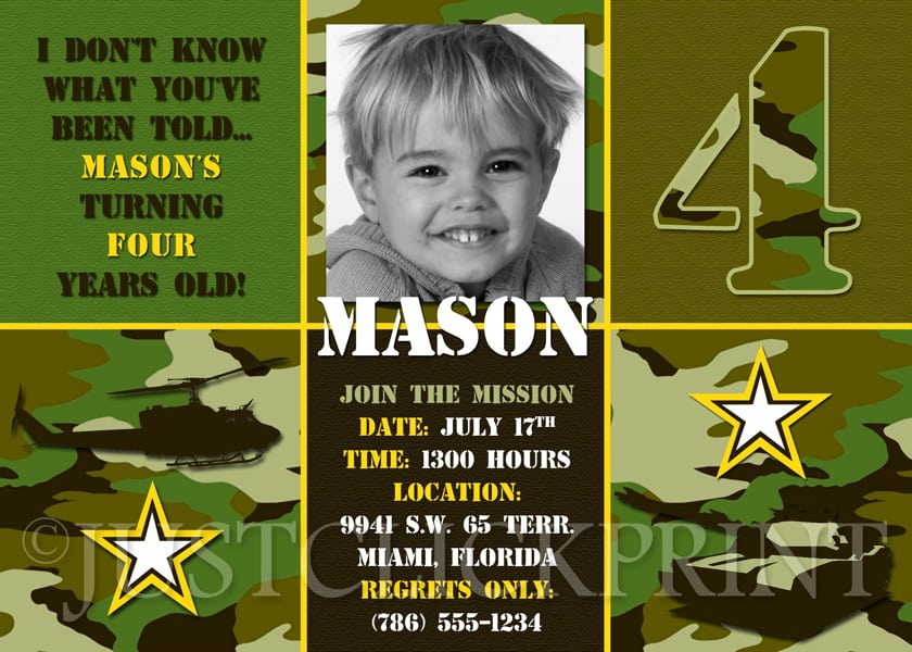 party invitations file name military themed birthday party invitations ...