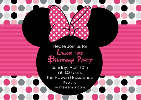 Mini Mouse Printable Birthday Invitation