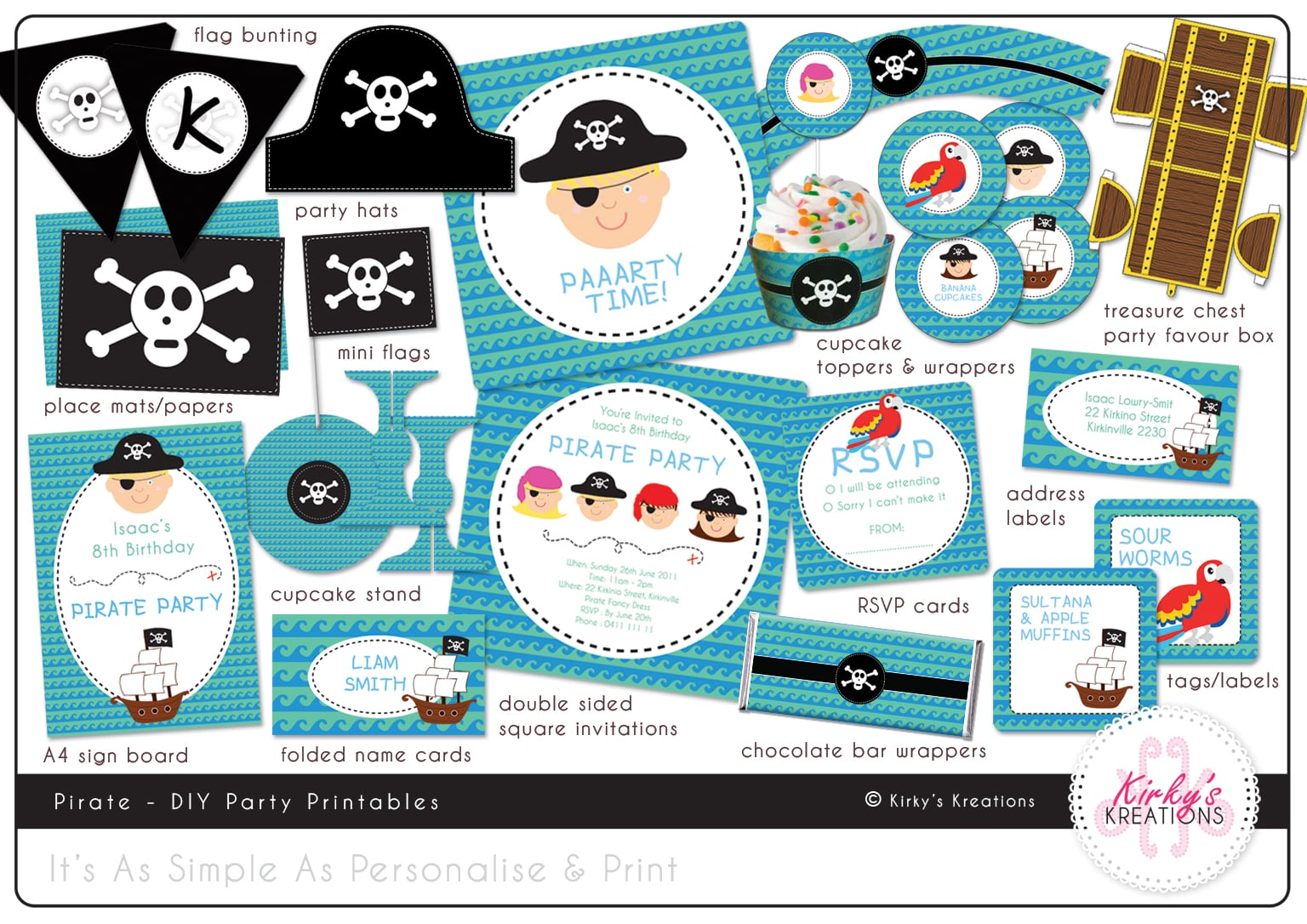 Pirate Party Invitation Free Download
