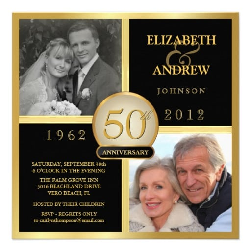Printable Free 50th Anniversary Invitation