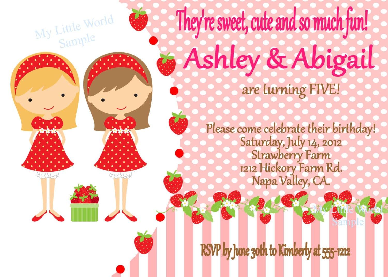 Printable Strawberry Invitation