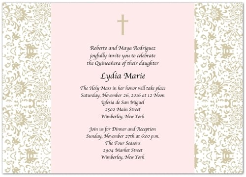 Examples of invitation for quinceaneras stopboris Choice Image