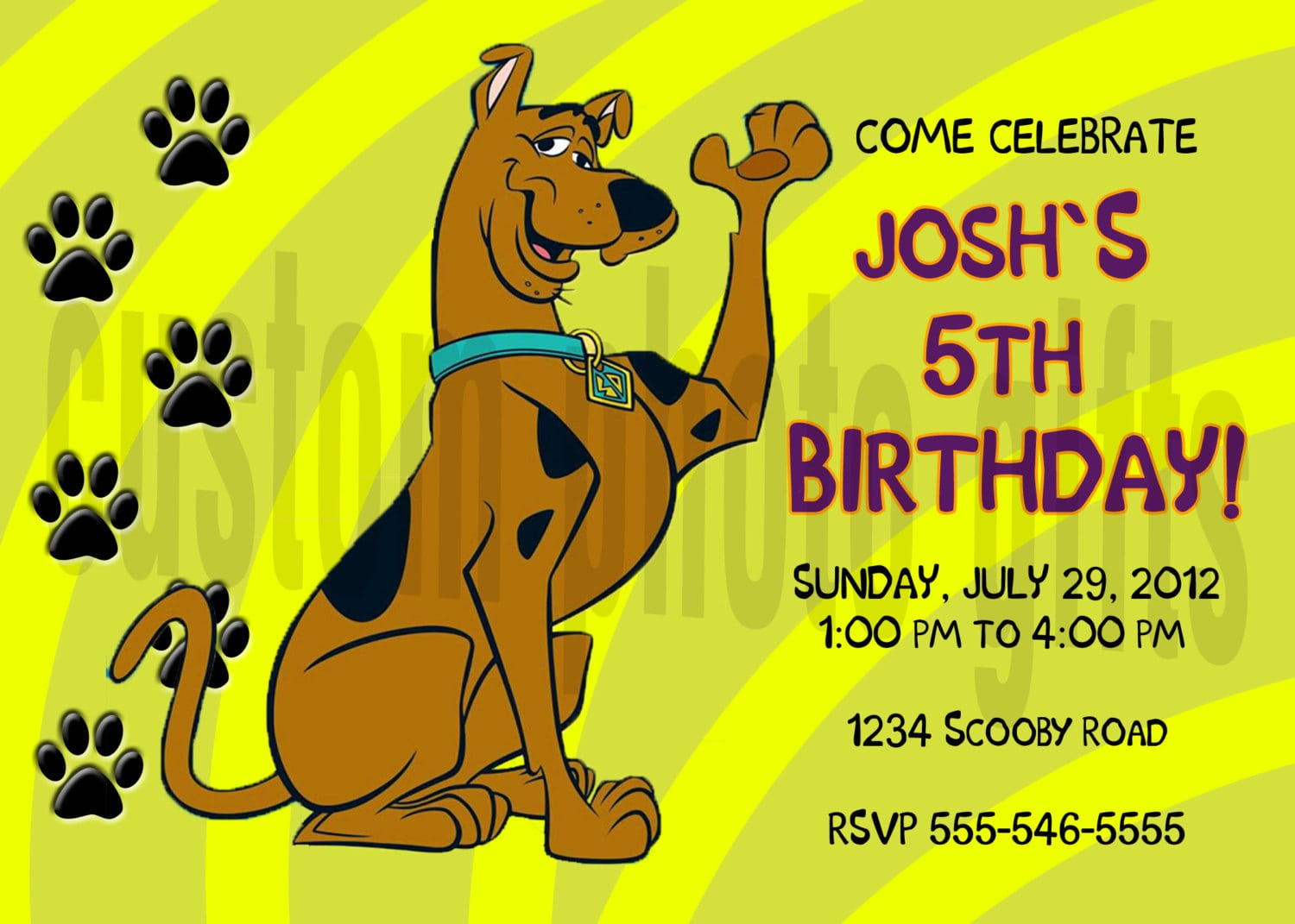 13 Year Old Birthday Party Invitations – Scooby Doo Party Invitations