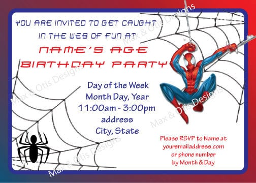 Spidermanbirthdayinvitationtemplatefreejpg - Spiderman birthday invitation template