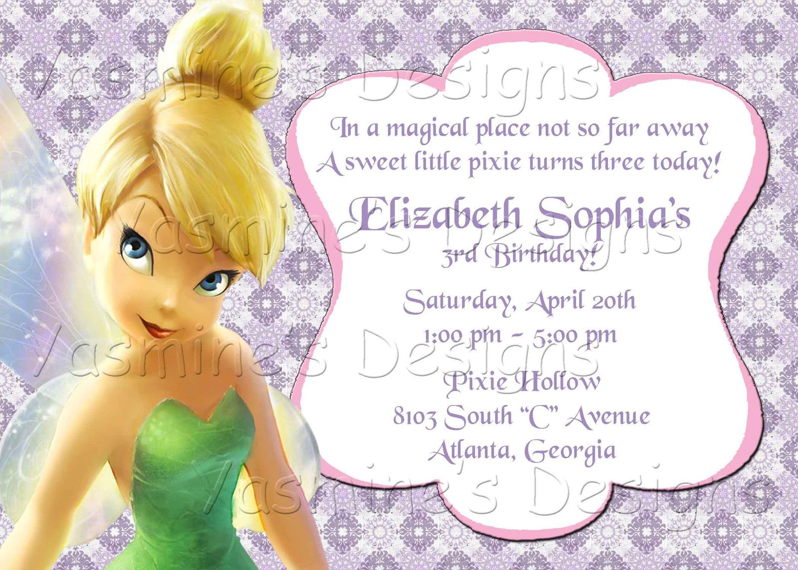 Tinkerbell Invitation Templates Party Invitations Net