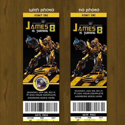 Transformers Invitations Printable