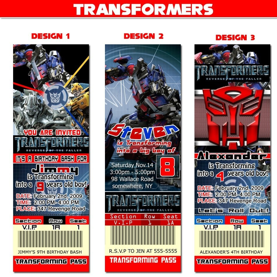 Fine transformers birthday invitations inspiration resume ideas fine transformers party invitations sketch resume ideas filmwisefo
